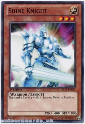 Picture of YS12-EN010 Shine Knight 1st Edition Mint YuGiOh Card