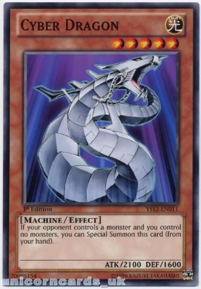 Picture of YS12-EN011 Cyber Dragon 1st Edition Mint YuGiOh Card