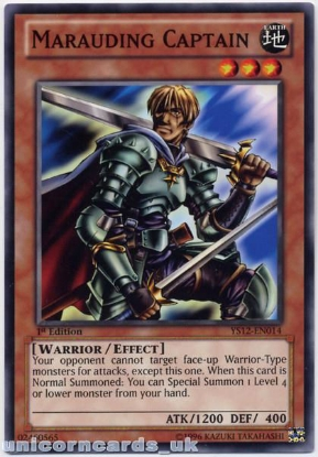 Picture of YS12-EN014 Marauding Captain 1st Edition Mint YuGiOh Card