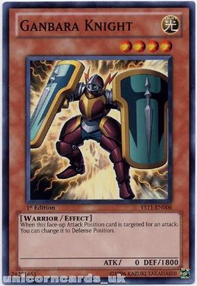 Picture of YS11-EN006 Ganbara Knight 1st Edition Mint YuGiOh Card