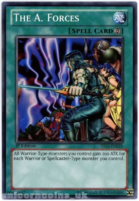 Picture of YS13-EN028 The A. Forces 1st Edition Mint YuGiOh Card