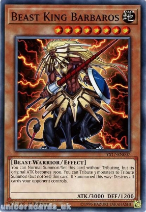 Picture of YS17-EN007 Beast King Barbaros 1st Edition Mint YuGiOh Card