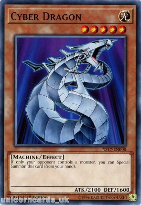 Picture of YS17-EN008 Cyber Dragon 1st Edition Mint YuGiOh Card