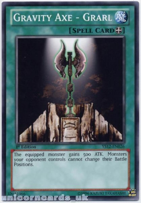 Picture of YS12-EN026 Gravity Axe - Grarl 1st Edition Mint YuGiOh Card