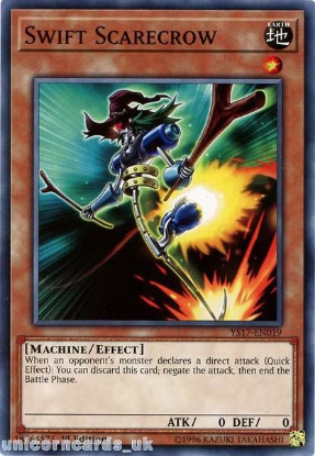 Picture of YS17-EN019 Swift Scarecrow 1st Edition Mint YuGiOh Card