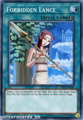 Picture of YS17-EN026 Forbidden Lance 1st Edition Mint YuGiOh Card