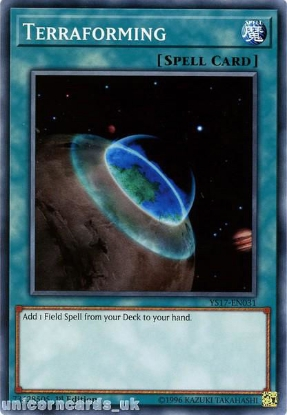 Picture of YS17-EN031 Terraforming 1st Edition Mint YuGiOh Card