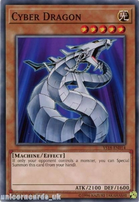 Picture of YS18-EN014 Cyber Dragon 1st Edition Mint YuGiOh Card