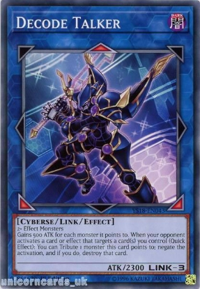 Picture of YS18-EN043 Decode Talker 1st Edition Mint YuGiOh Card