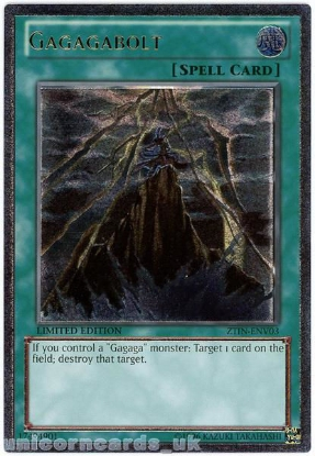 Picture of ZTIN-ENV03 Gagagabolt Ultimate Rare Limited Edition Mint YuGiOh Card