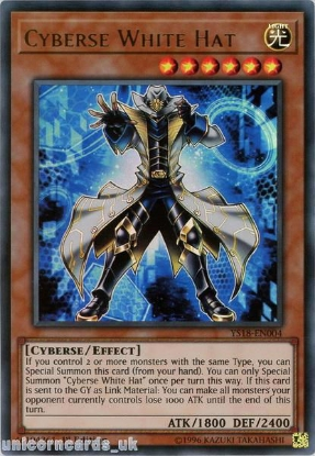 Picture of YS18-EN004 Cyberse White Hat Ultra Rare 1st Edition Mint YuGiOh Card