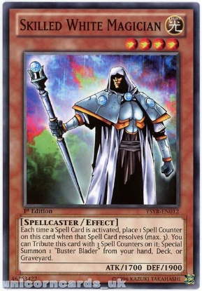 Picture of YSYR-EN012 Skilled White Magician 1st Edition Mint YuGiOh Card