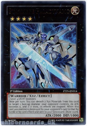 Picture of ZTIN-EN014 Starliege Paladynamo Ultra Rare 1st Edition Mint YuGiOh Card