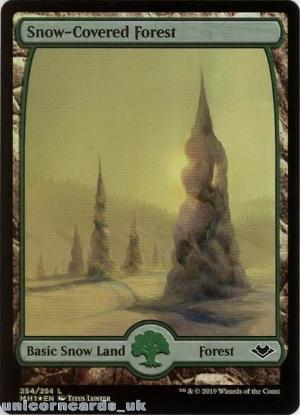 Snow-Covered Mountain Modern Horizons MH1-EN-253 Foil Land Mint MTG Card