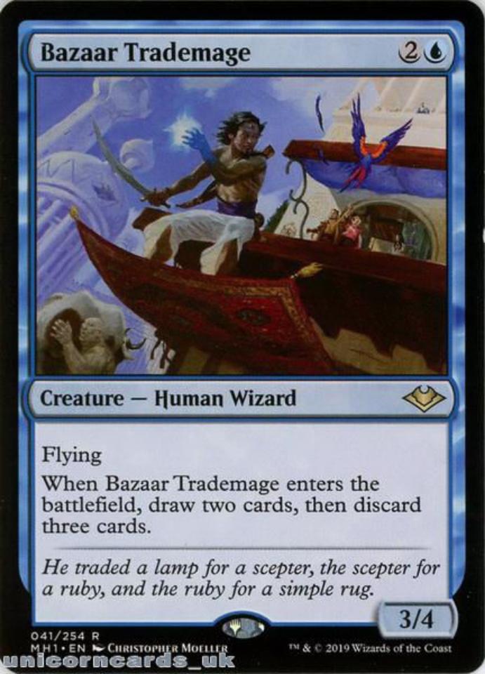 bazaar trademage modern horizons mh1en041 rare mint mtg