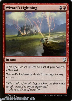 Picture of Wizard's Lightning Dominaria DOM-152 Mint MTG Card