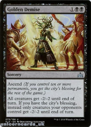 Picture of Golden Demise Rivals of Ixalan RIX-073 Mint MTG Card