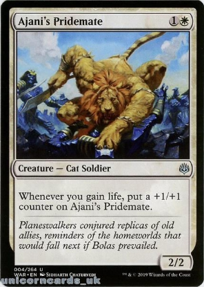 Picture of Ajani's Pridemate War of the Spark WAR-004 Mint MTG Card