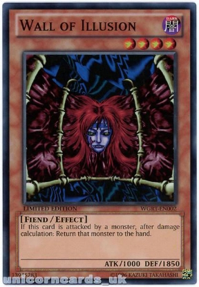 Picture of WGRT-EN002 Wall of Illusion Super Rare Limited Edition Mint YuGiOh Card
