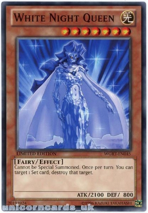 Picture of WGRT-EN045 White Night Queen Limited Edition Mint YuGiOh Card