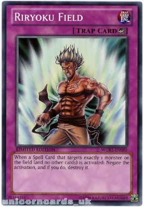 Picture of WGRT-EN080 Riryoku Field Limited Edition Mint YuGiOh Card