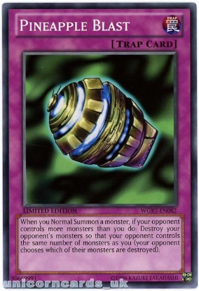 Picture of WGRT-EN082 Pineapple Blast Limited Edition Mint YuGiOh Card