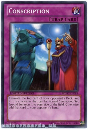 Picture of WGRT-EN085 Conscription Limited Edition Mint YuGiOh Card