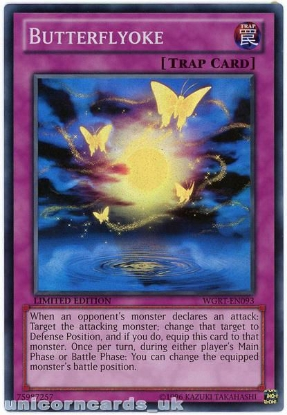 Picture of WGRT-EN093 Butterflyoke Super Rare Limited Edition Mint YuGiOh Card
