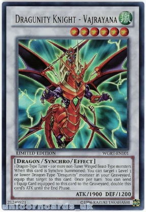 Picture of WGRT-EN101 Dragunity Knight - Vajrayana Ultra Rare Limited Edition YuGiOh Card