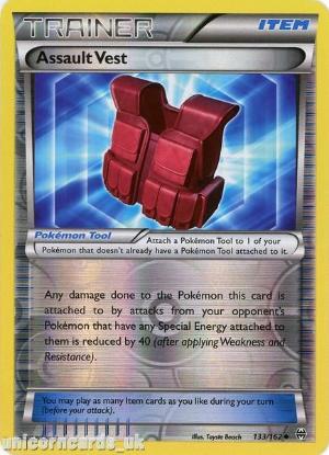 Picture of Assault Vest 133/162 BREAKthrough Reverse Holo Mint Pokemon Card