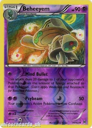 Picture of Beheeyem 74/162 BREAKthrough Reverse Holo Mint Pokemon Card