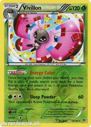 Picture of Vivillon 15/162 BREAKthrough Reverse Holo Mint Pokemon Card