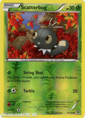 Picture of Scatterbug 13/162 BREAKthrough Reverse Holo Mint Pokemon Card