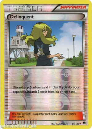 Picture of Delinquent 98/122 BREAKpoint Reverse Holo Mint Pokemon Card