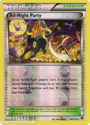 Picture of All-Night Party 96/122 BREAKpoint Reverse Holo Mint Pokemon Card