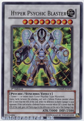 Picture of CRMS-EN042 Hyper Psychic Blaster Ultra Rare 1st Edition Mint YuGiOh Card