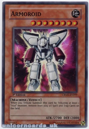 Picture of CRMS-EN099 Armoroid Super Rare 1st Edition Mint YuGiOh Card