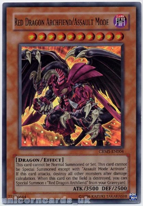 Picture of CRMS-EN004 Red Dragon Archfiend/Assault Mode Ultra Rare UNL Edition Mint YuGiOh Card