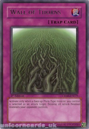 Picture of CRMS-EN079 Wall of Thorns Rare 1st Edition Mint YuGiOh Card