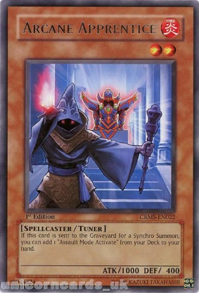 Picture of CRMS-EN022 Arcane Apprentice Rare 1st Edition Mint YuGiOh Card