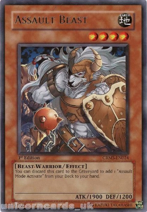 Picture of CRMS-EN024 Assault Beast Rare 1st Edition Mint YuGiOh Card