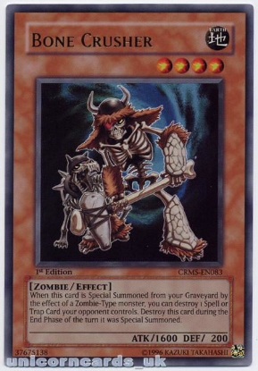 Picture of CRMS-EN083 Bone Crusher Ultra Rare 1st Edition Mint YuGiOh Card