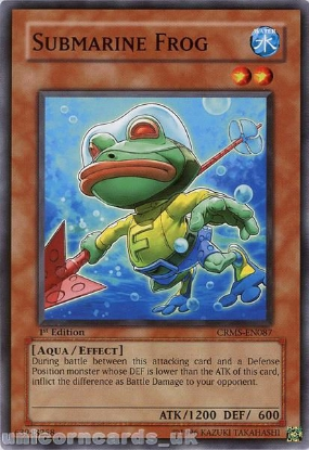 Picture of CRMS-EN087 Submarine Frog Common 1st Edition Mint YuGiOh Card