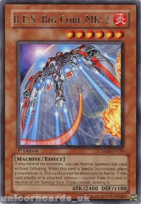 Picture of CRMS-EN030 B.E.S. Big Core MK-2 Rare 1st Edition Mint YuGiOh Card