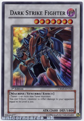 Picture of CRMS-EN040 Dark Strike Fighter Super Rare 1st Edition Mint YuGiOh Card