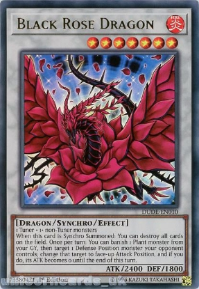 Picture of DUDE-EN010 Black Rose Dragon Ultra Rare 1st Edition Mint YuGiOh Card