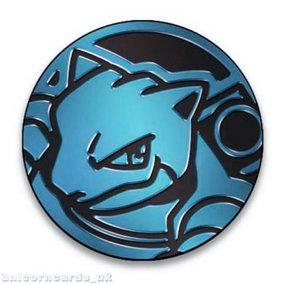 Picture of Pokemon Blastoise GX Coin :: Official Pokemon Coin from Blastoise GX Premium Collection ::
