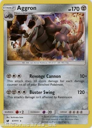 Picture of Aggron 67/111 Rare Holo :: Crimson Invasion :: Mint Pokemon Card