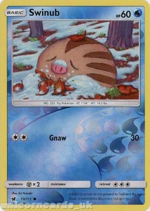 Picture of Swinub 19/111 Reverse Holo :: Crimson Invasion :: Mint Pokemon Card