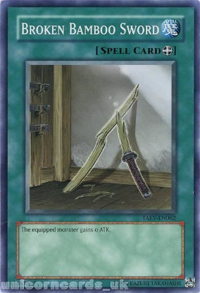 Picture of TAEV-EN062 Broken Bamboo Sword Common UNL Edition Mint YuGiOh Card